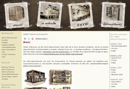 Der BHKW-Gebrauchtmarkt eröffnet gute Möglichkeiten für den Verkauf einer gebrauchten BHKW-Anlage (Foto: BHKW-Infozentrum)
