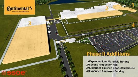 Continental feiert Grundsteinlegung für die Erweiterung des Reifenwerks in Sumter im Bundesstaat South Carolina
