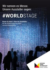 #MesseErfolg - Motiv Worldstage Deutsch