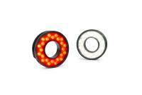 Neue LUMIMAX® LR45-Ringbeleuchtungen in Lichtfarben Rot und Weiß