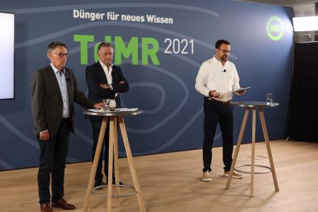 Leonhard Ost und Erwin Ballis eröffnen den digitalen Tag der Maschinenringe