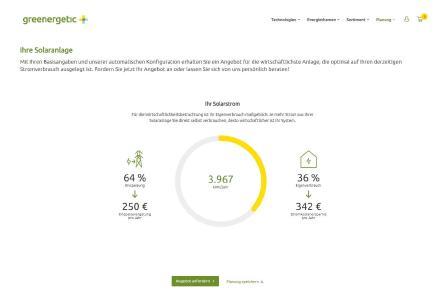 Greenergetic EDL-Portal: Ergebnisseite