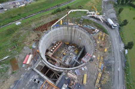 Einzigartige Anlage im Rahmen des Emscher-Umbaus: In GE-Bismarck entsteht ein Bauwerk mit drei Pumpwerken und Regenwasserbehandlung (Quelle: Stefan Kuhn/Emschergenossenschaft)