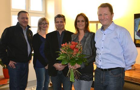 Bild: Peter Schwinn, Silke Döhring, Jörg Böckel, Sandy Glimbotzki, Achim Hager (von links)