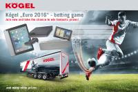 Main prizes for the Kögel Euro betting game