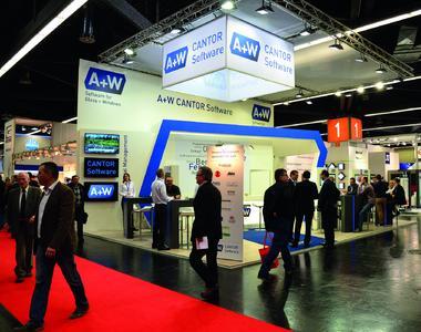 A+W CANTOR Messestand: Software-Präsentationen und Beratung f...