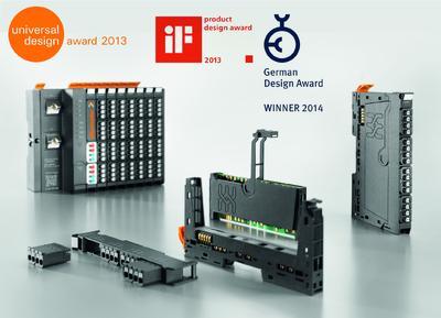 """Weidmüller """"u-remote"""": Designkonzept des Remote I/O-System """"u-remote"""" mit drei Preisen ausgezeichnet: Dem """"German Design Award  2014"""",  """"IF product design award 2013"""" und """"Universal Design Award 2013"""""""