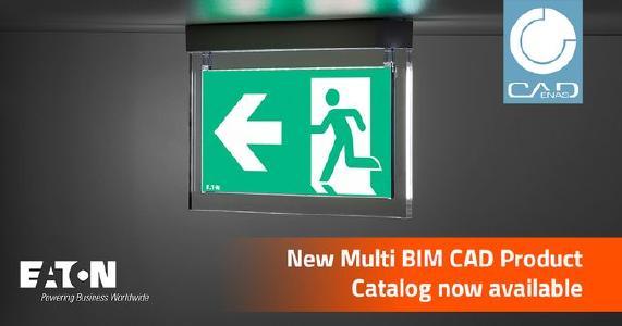 Eaton Emergency Lighting lancia dati di prodotto BIM in collaborazione con CADENAS
