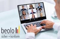 Die Videokonferenz-Plattform Beolo erfüllt als deutscher Anbieter sämtliche Anforderungen an den Datenschutz im Rahmen der EU-DSGVO sowie an die Informationssicherheit nach ISO 27001:2013