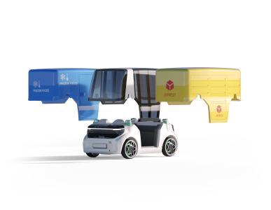 """Der hohe Integrationsgrad der Antriebs- und Fahrwerkskomponenten des """"Schaeffler Mover"""" ermöglichen unterschiedlichste Nutzungsmöglichkeiten, zum Beispiel im Personen- oder Gütertransport / Bild: KVV/Alexander Scheuber"""