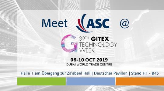 ASC auf der 39. GITEX TECHNOLOGY WEEK in Dubai