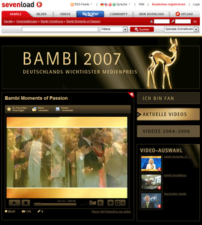 BAMBI 2007: Exklusives Video-Special auf sevenload