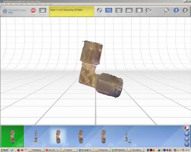 Die eingelesenen Bauteilinformationen werden in einem groben Modell dargestellt