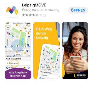 AppStore LeipzigMOVE App der LVB - Entwickler TAF