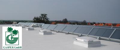 80 m² Luftkollektoren auf dem Dach der Gasper GmbH in Sondershausen / Bild: LK-Metall