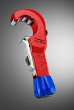 Der KNIPEX TubiX® Rohrabschneider schneidet schnell und zuverlässig Kupfer- Messing und Edelstahlrohre