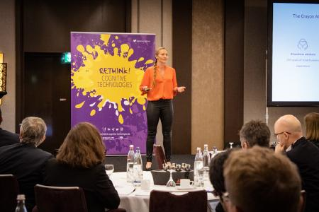 Elin Hauge bei Rethink! Cognitive Technologies Summit