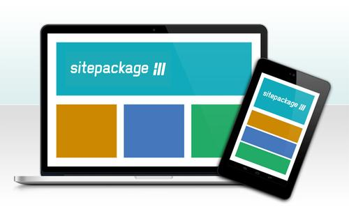 Responsive Template für Mobile E-Mail-Marketing mit sitepackage://