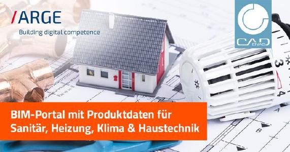 BIM für SHK & Haustechnik: Neues BIM Downloadportal der ARGE Neue Medien powered by CADENAS