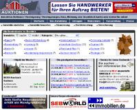 Screenshot der Startseite www.immoauktionen.de