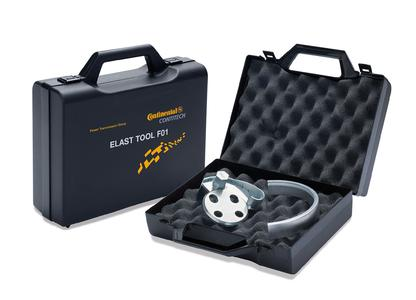 Special tool needed for installing elastic V-ribbed belts on certain Ford and Volvo engines: The ELAST TOOL F01 from the ContiTech Power Trans-mission Group