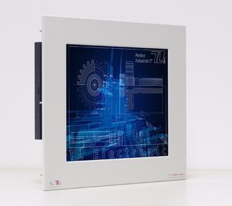 Die Panelmount-Frontplatte aus 5 mm starkem Aluminium getattet eine unkomplizierte Installation des Panel-Industrie-PCs und bietet frontseitigen Schutz bis IP65