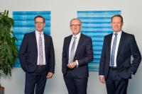 Board of Management of technotrans SE, from left to right: Dirk Engel, Michael Finger (Spokesman), Peter Hirsch