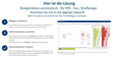 Texte erkennen, aber richtig - der PDF-Mapper® der ExxTainer AG versteht PDF-Belege und verwandelt sie mit der hinterlegten Semantik in strukturierte, maschinenlesbare Daten