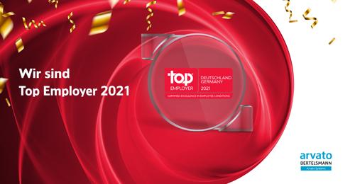 Arvato Systems awarded as Top Employer 2021
