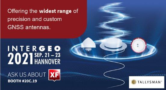 Tallysman präsentiert XF Filtering Antennen auf der Intergeo 2021
