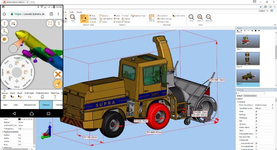 True mobile visualization for CAD data from many sources