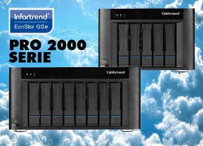 Die kleinen RAID-Systeme im Tower-Gehäuse stehen für große Aufgaben bereit:  EonStor GSe Pro 2008 und 2005 von Infortrend.