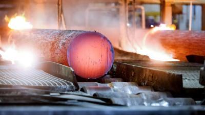 Produktion im Stahlwerk Bous (Stahlwerk Bous GmbH)