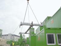 Mittels Seilen kann ConFlex vom sicheren Boden aus verriegelt und wiedergelöst werden. (Quelle: ROBUSTA-GAUKEL)