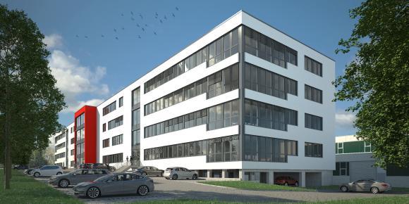 So soll das neue Bürogebäude aussehen: Hoch modern und mit rund 8.000 Quadratmetern Nutzfläche / Quelle: Goldbeck GmbH, Bochum