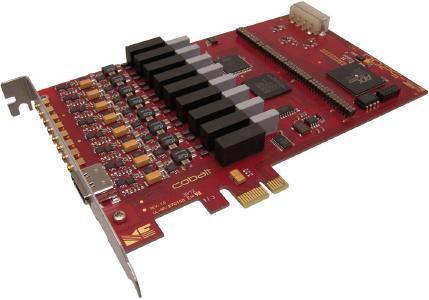 potenzialfrei isolierte, voll-differenzielle PCI-Express-Karte