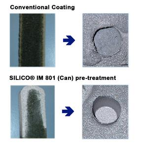 Picture 2:  Casting result with / without application of SILICO® IM 801
