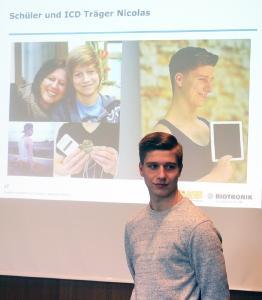 17-jähriger Schüler und ICD-Träger Nicolas Lewandrowski durch Erste-Hilfe gerettet