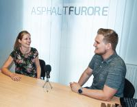 """Hinter den Kulissen: Julia Roth und Patrick Zytariuk – das  Team von """"Asphaltfurore – Straßentechnik aufs Ohr"""""""