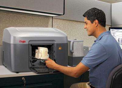 Der FDM 3D-Drucker Mojo von Stratasys ist derzeit der vermutlich kleinste 3D-Drucker für den professionellen Bereich.