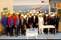 Steel cutting ceremony for the next AIDA LNG cruise ship at MEYER WERFT