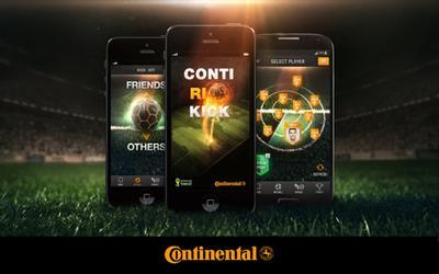 ContiRioKick - mit der Continental-App des Offiziellen Sponsors zur FIFA Fussball-Weltmeisterschaft(TM) in Brasilien