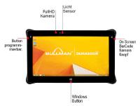 "Robustes 11.6"" Industrie- Outdoortablet. BULLMAN Durabook TAB R11: Full Rugged Tablet für Windows 7, 8.1, 10 oder Linux."