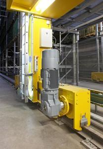 Die RBG sind für eine höhere Energieeffizienz mit frequenzgeregelten Antrieben ausgestattet