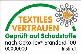 Mit insgesamt 150.000 ausgestellten Zertifikaten für Produkte aller Verarbeitungsstufen und weltweit über 10.000 beteiligten Herstellern ist der OEKO-TEX® Standard 100 das führende internationale Zertifizierungssystem für schadstoffgeprüfte Textilien. www.oekotex.com