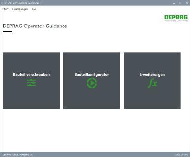 DEPRAG Operator Guidance