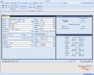 Warenwirtschaftssystem Orgasoft.NET: Filiale mit Wettervorschau