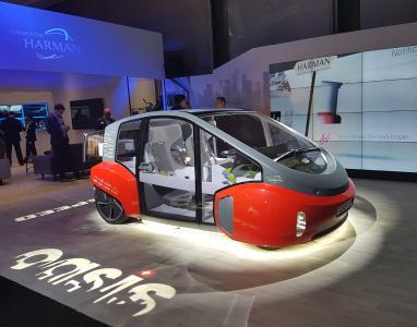 Das OASIS-Fahrzeug von Rinspeed mit den Huf-Innovationen wird auf dem Genfer Automobilsalon ausgestellt.