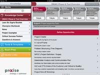 A view of the Lean Six Sigma Coach App from procise