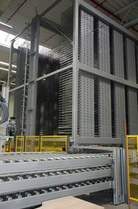 General view of a compact sorting warehouse